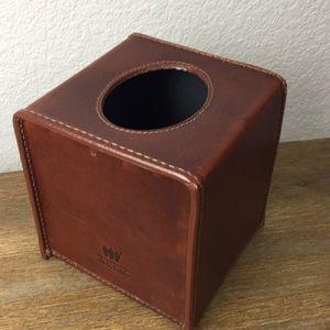 Mulholland Brothers Leather Kleenex Box Holder